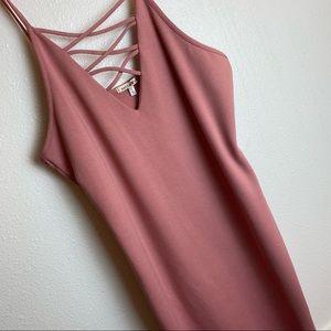 Better Be pink salon basic cotton dress XL